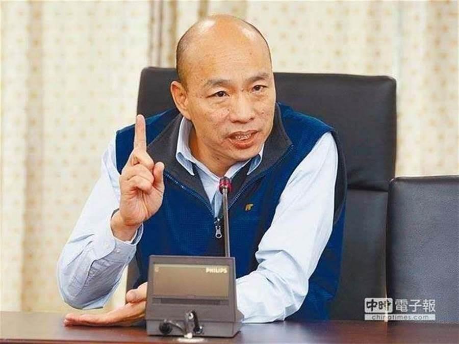 高雄市長韓國瑜最新民調出爐,9大項民調支持度有5-6成。(圖/本報資料照)