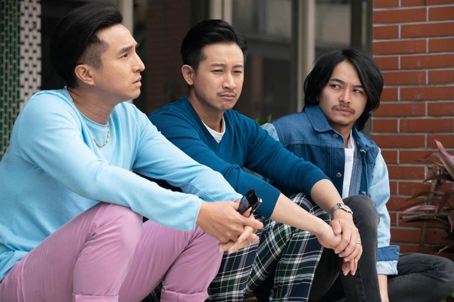 王少偉(左起)、Darren、楊銘威在《我的婆婆怎麼那麼可愛》中飾演搞笑三兄弟。 (公視提供)