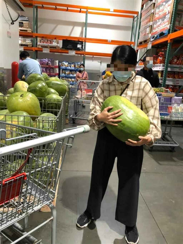 一名網友將標價189、13.2公斤的大西瓜抱回家,一秤發現竟然是16公斤,且又甜又好吃,讓他驚呆 (圖/翻攝自Costco好市多 商品經驗老實說)