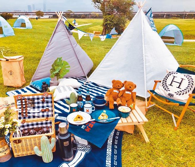 璐露野生活提供多種方案,新手也能輕鬆享受野餐。(璐露野生活提供)