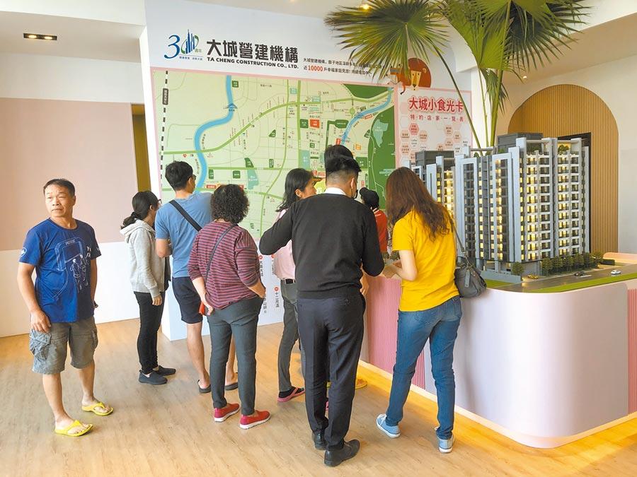 台中房市第一季平穩,不少接待中心來客多,未受疫情影響。圖/黃繡鳳