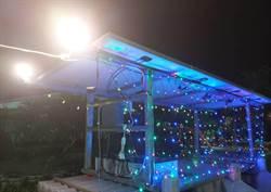 救災兼照明 學甲平西社區自製太陽能水陸行動船