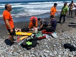 台東都蘭觀景平台 國中生溺水搶救
