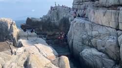 龍洞攀岩場失足 中年婦摔落3米高岩壁