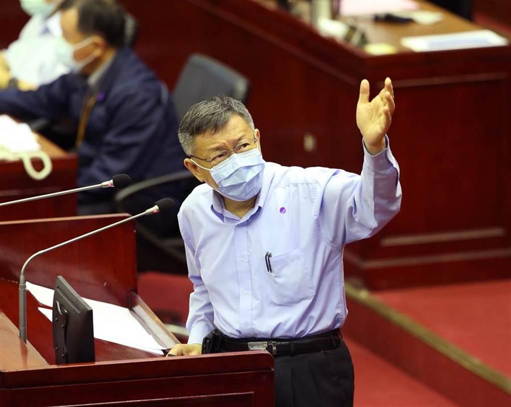 台北市長柯文哲。(陳怡誠攝)