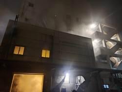 台肥台中廠失火 6小時從2樓燒到5樓