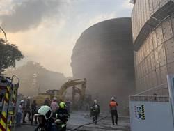 京華城百貨拆除工程引火警 警消灌救無人受傷