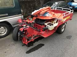陽明山7旬男子駕農具車撞電線桿 噴飛死亡