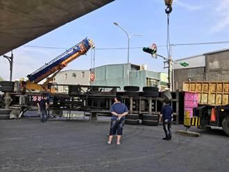 貨櫃車疑似撞高鐵橋墩 駕駛輕傷送醫