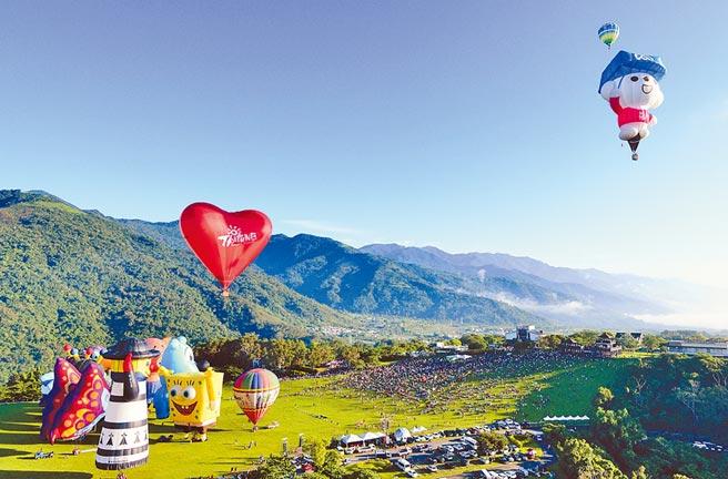 台東縣政府交觀處4日宣布,今年熱氣球嘉年華將於7月11日如期舉行。(本報資料照片)