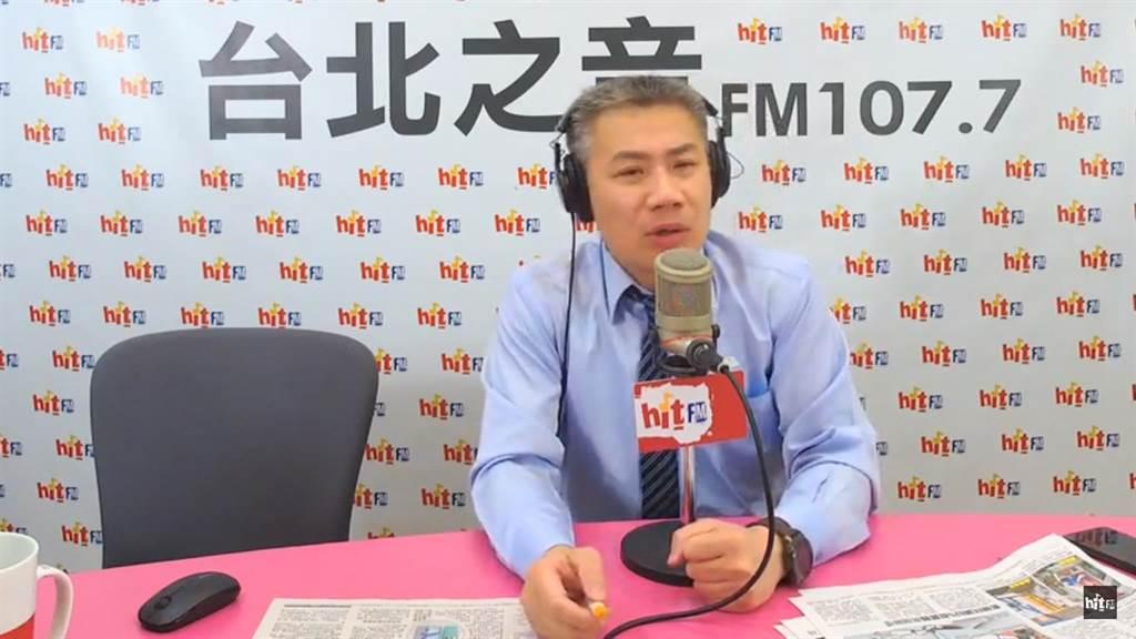 台北之音《羅友志嗆新聞》6日上午電話訪問高雄巿副巿長李四川。(曹明正翻攝)