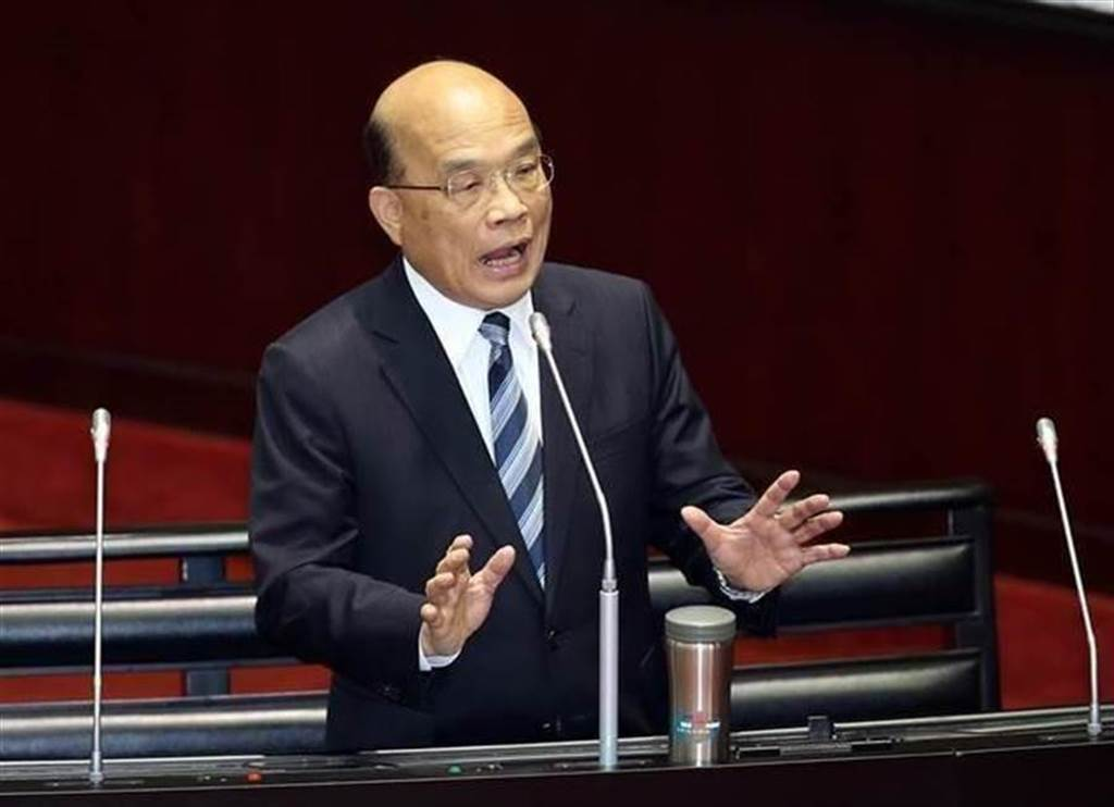 行政院長蘇貞昌在立院備詢。(圖/本報資料照)