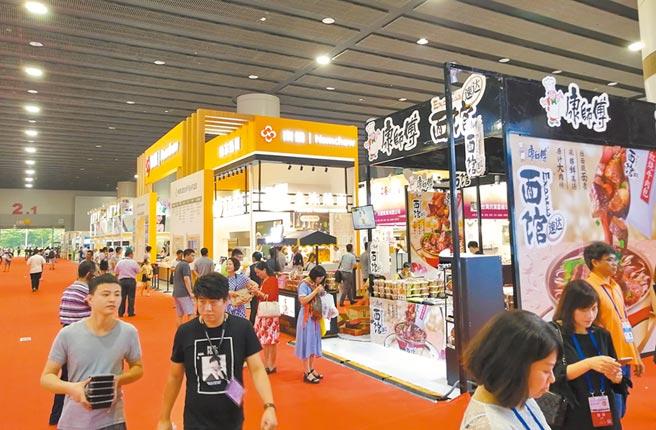 台商對大陸的經濟發展貢獻,比韓商還大。圖為「2019廣州·台灣商品博覽會」開幕。(中新社)
