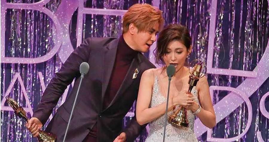 3年前,羅志祥與「旗下女藝人」愷樂因《娛樂百分百》拿到金鐘獎「綜藝節目主持人獎」。 (圖/報系資料庫)