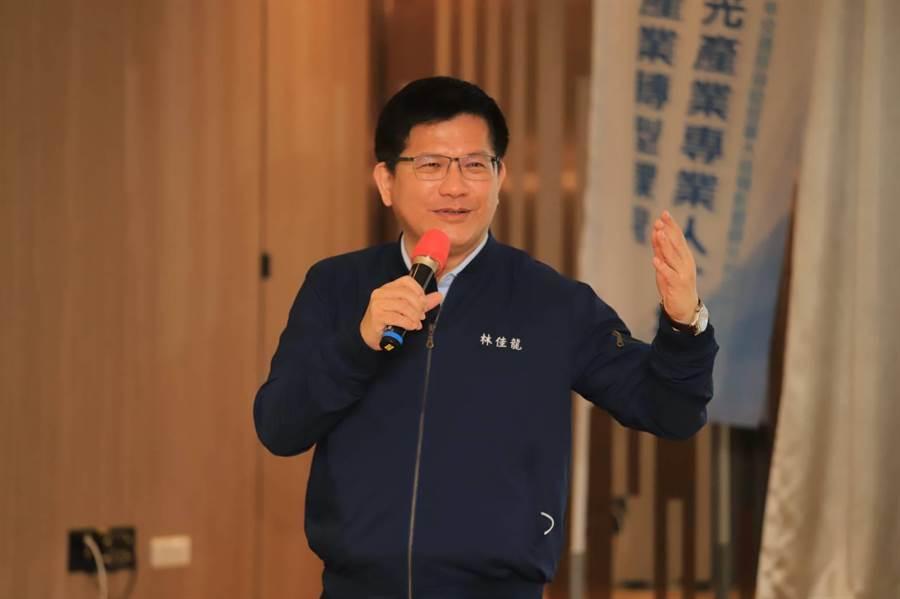 交通部長林佳龍視察在台中市舉辦的「觀光人才培訓及產業升級轉型課程」。(交通部提供/陳淑芬台中傳真)