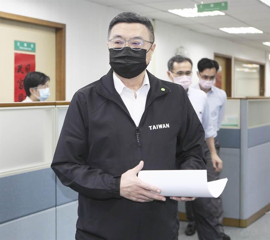 民進黨主席卓榮泰(如圖)6日出席中常會。(張鎧乙攝)