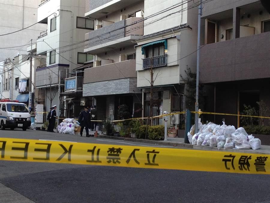 日本警方在命案發生後,立即封鎖宿舍現場採證,果然發現嫌犯張志揚血跡。(中時資料庫)
