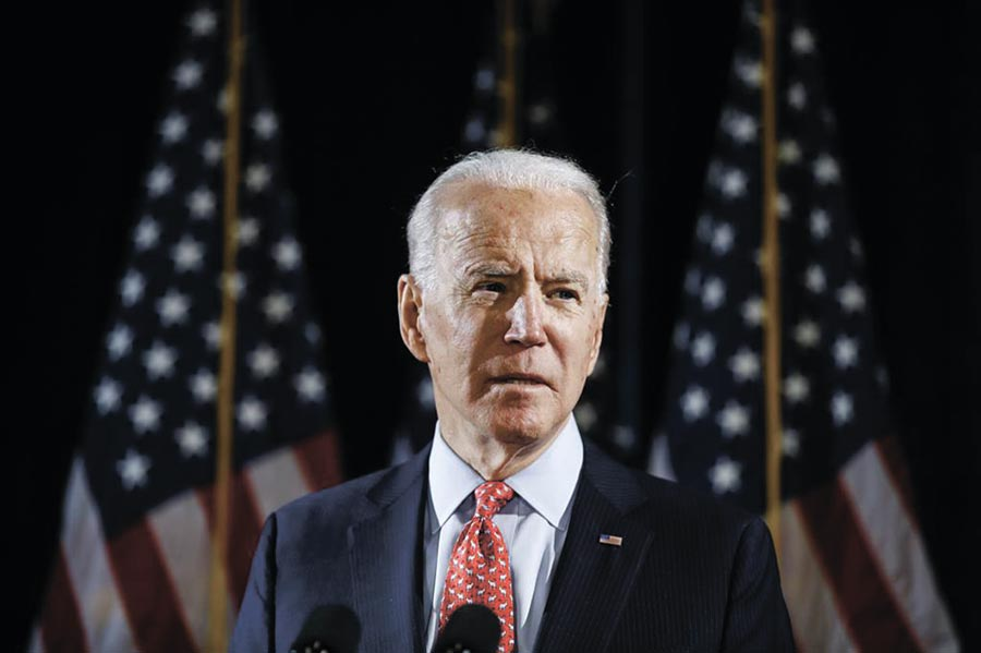 美國民主黨準總統候選人拜登。(美聯社資料照片)