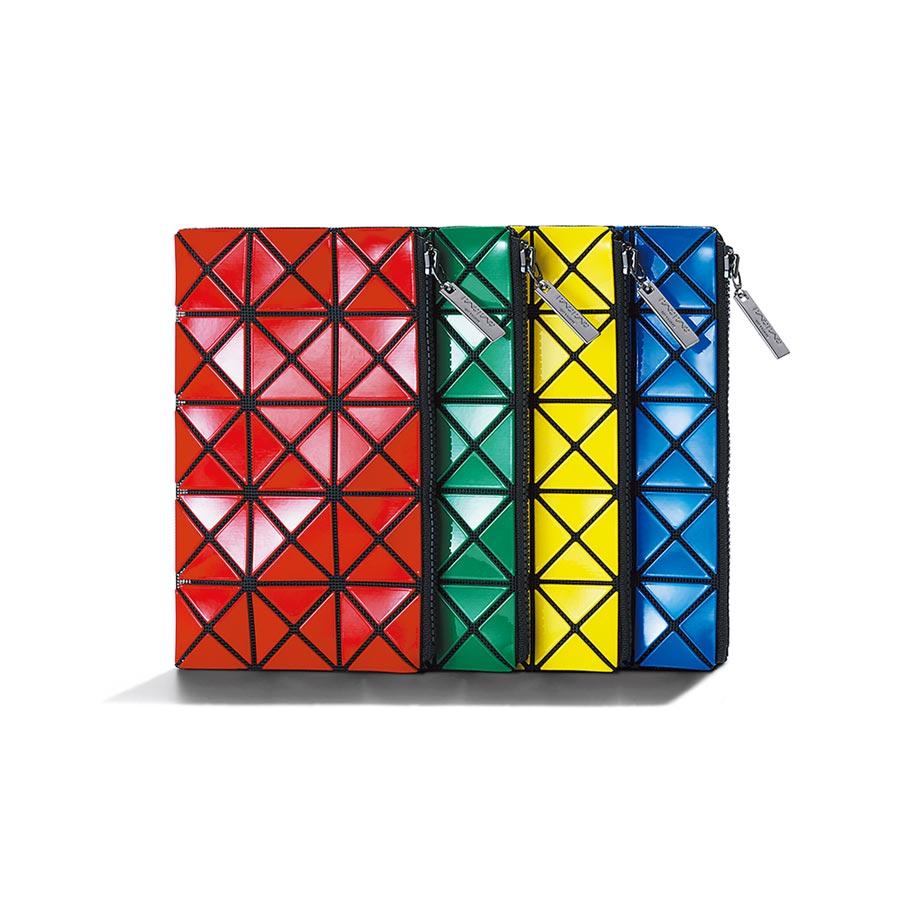 BAO BAO ISSEY MIYAKE虹彩啵啵化妝包,5600元。(BAO BAO ISSEY MIYAKE提供)