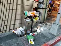 北市狂撤垃圾桶 垃圾滿溢惹民怨