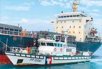 陸船越界抽砂 澎湖驅離數十艘
