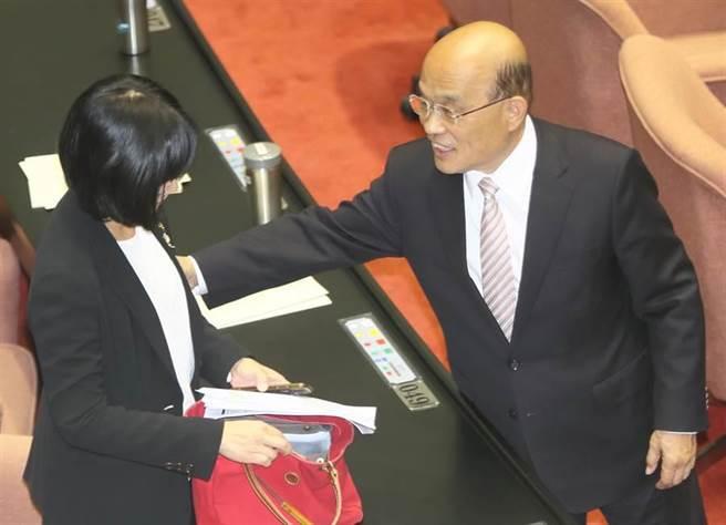 行政院長蘇貞昌(右)。(本報資料照)