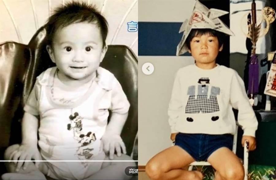 網友發現AKIRA(右圖)和言承旭童年有些神似。(圖/翻攝自騰訊視頻;翻攝自exileakira_official IG)