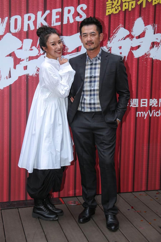 《做工的人》柯叔元和方宥心在戲中有不少精彩互動。(吳松翰攝)