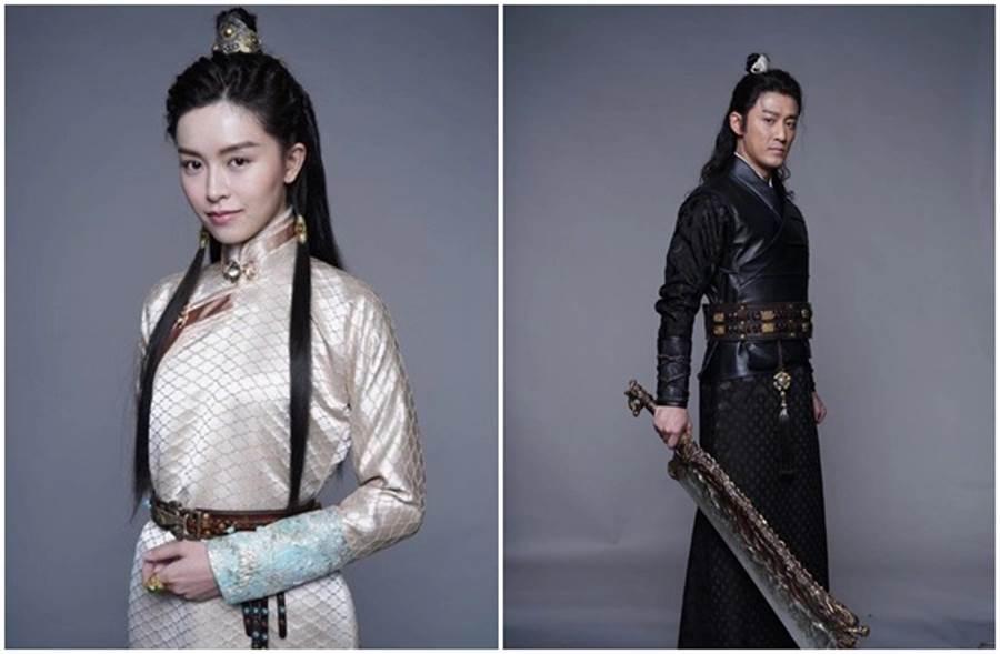 新版《倚天屠龍記》張無忌、趙敏分別由林峰、文詠珊飾演。(取自王晶微博)