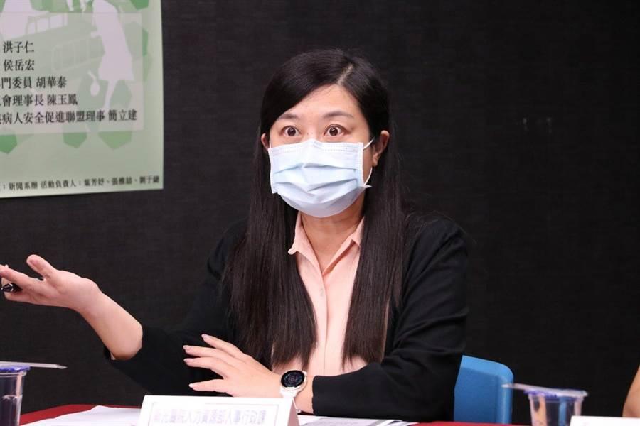 劉小萍表示,醫院要有盈利才能回饋給員工,健保給付一定要修正改善。(主辦單位提供)