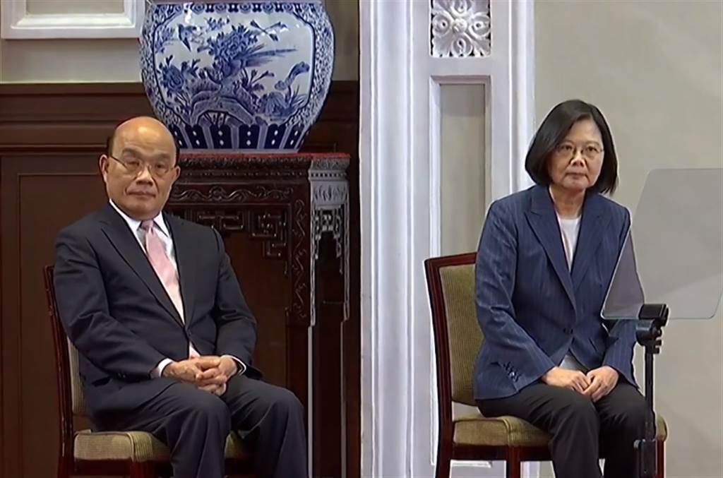 行政院長蘇貞昌(左)、總統蔡英文(右)。(圖/本報資料照)