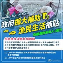 紓困生活補貼 漁業署呼籲漁民分散申辦