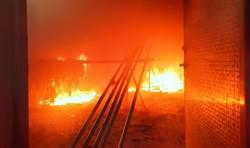 和美全球知名鞋帶廠烈火狂燒 幸無人傷亡
