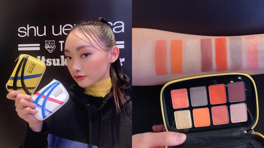 set the motion eye palette 眼彩盤(黃)是很適合亞洲女生的橘色系眼影盤。(圖/邱映慈攝影)