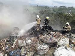 台南回收場傳火警 黑煙臭味竄進市區