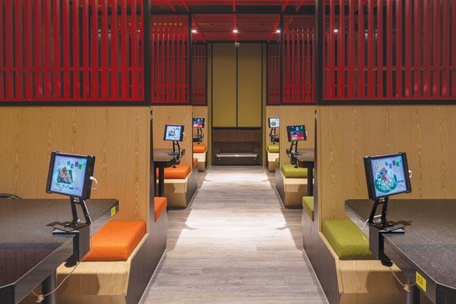 ˙台中新餐廳〈大漁MAGURO壽司〉有19間包廂,採平板電腦系統點餐,避免與服務人員接觸。圖/大漁餐飲集團