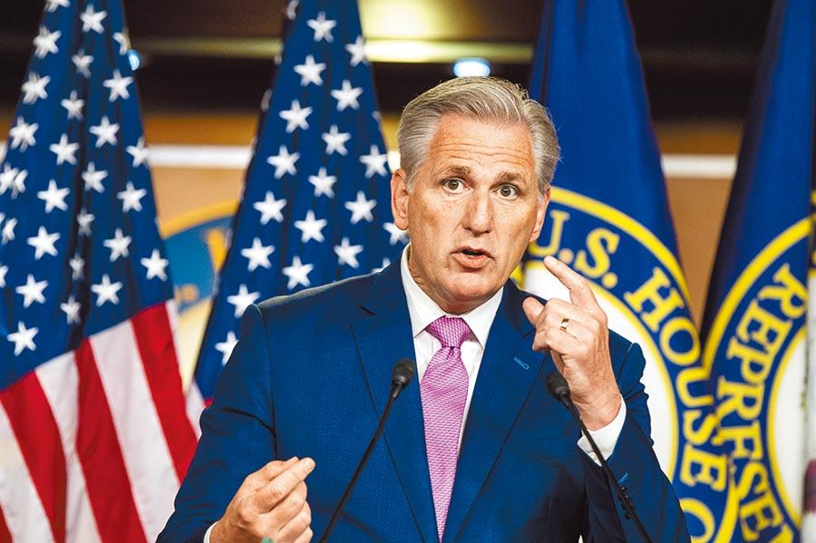 美國眾議院少數黨(共和黨)領袖麥卡錫宣布,將成立由15名共和黨籍眾議員組成的「中國工作小組」。(China Task Force)(美聯社)