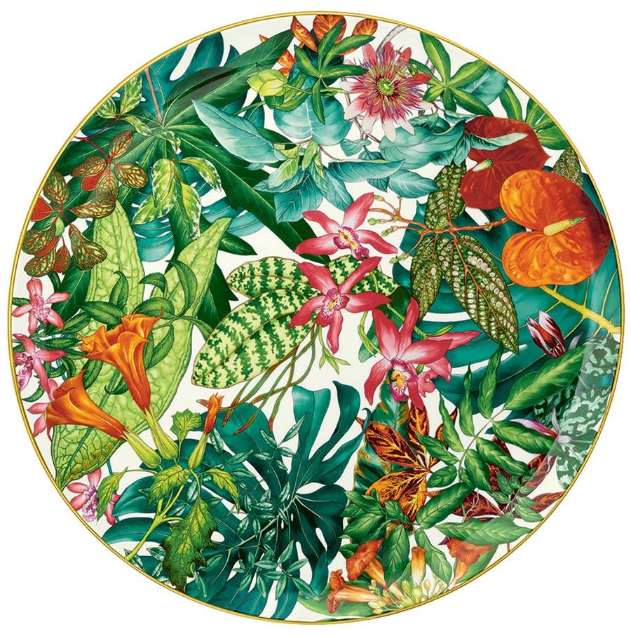 愛馬仕Passifolia系列餐瓷大圓盤,6萬3060元。(愛馬仕提供)