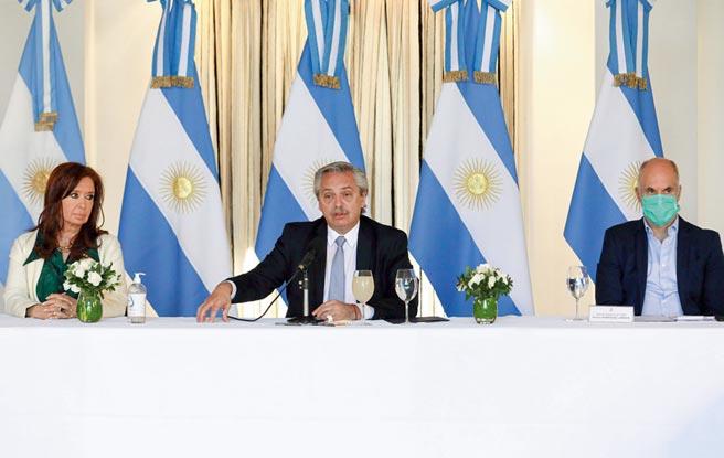 阿根廷總統費爾南德斯(Alberto Fernandez)。圖╱路透