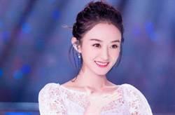 趙麗穎劉亦菲「半透膚秀酥胸」泡泡袖甜美超減齡