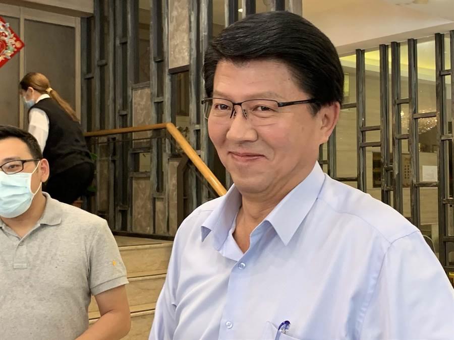 國民黨副祕書長謝龍介表示,國民黨上火線反制罷韓恐是兩面刃。(柯宗緯攝)