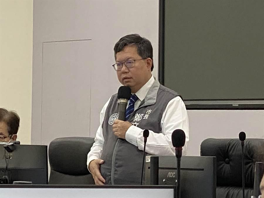 桃園市長鄭文燦11日在防疫會議中宣布親子館提前到下周一、5月19日開放。(蔡依珍攝)