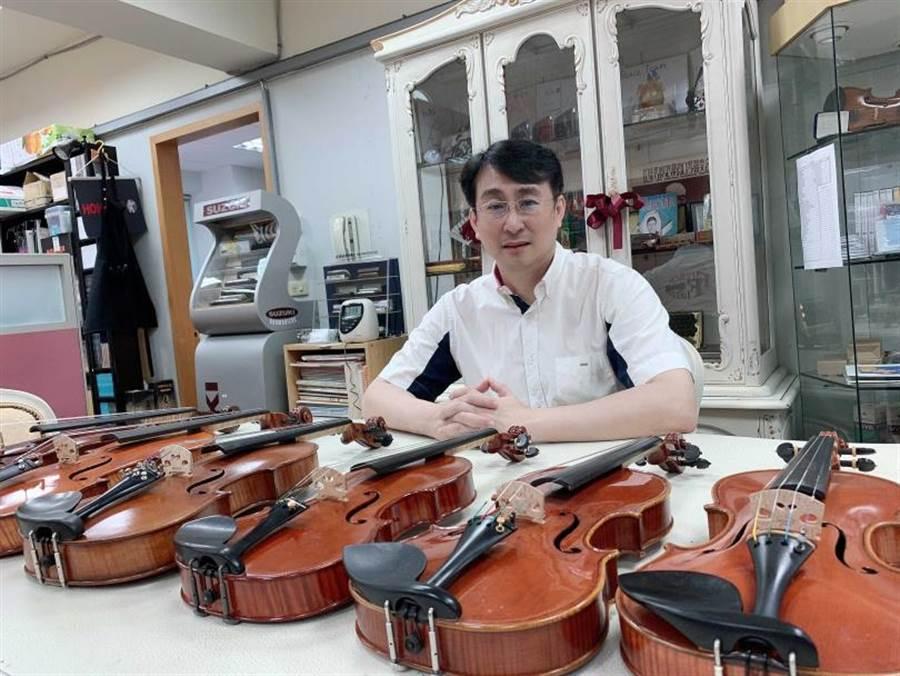 張鎮洲多年來積極推廣小提琴及收藏名琴。(圖/張鎮洲提供)