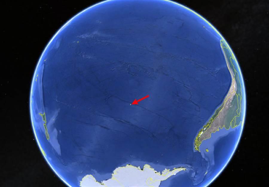 尼莫點,最遠離陸地的海洋區域,是極佳的太空飛行器掉落點。(圖/NOAA)