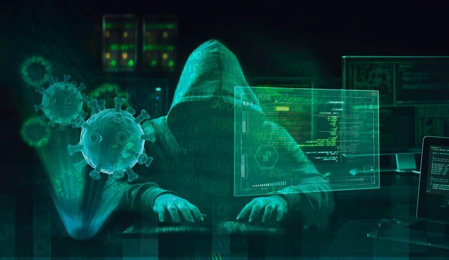 各國為獲取新冠疫情流行期間的優勢,大量駭客四出攻擊網站與研究人員郵件帳戶,已形成一場網路混戰。(圖/Shutterstock)