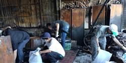 北市大火 北檢派6名社會勞動人協助獨居長者清理殘破家園