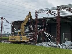 取締農田違法「種鐵皮工廠」  中市府強制拆除農地違建