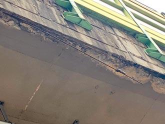 建國高架橋鋼筋裸露水泥剝落