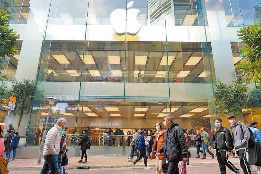 蘋果在疫情期間,Apple Store零售店暫時關閉。(圖/中新社)