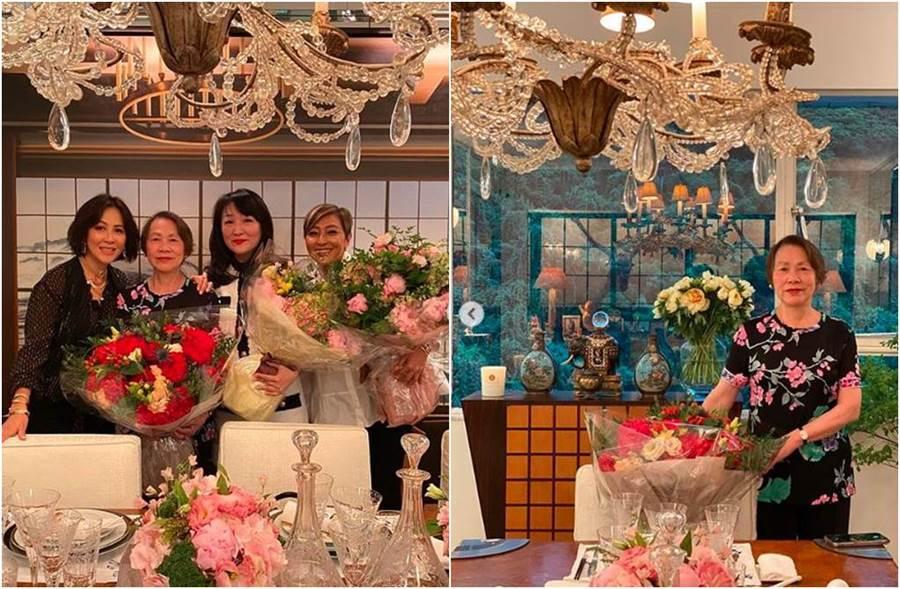 劉嘉玲豪宅選用水晶吊燈,加上許多收藏品,看來相當氣派。(圖/翻攝自IG)
